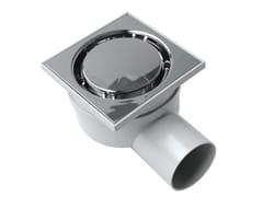 Chiusino sifonato in ABS grigio con scarico orizzontaleCHABSE1050M - FIRST CORPORATION