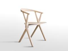 Sedia pieghevole in legno con braccioli CHAIR B | Sedia in legno - Extrusions