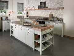 Cucina in acciaio e legno con isolaCHALET