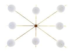 LAMPADARIO IN ALLUMINIOCHAMPAGNE - ALTREFORME