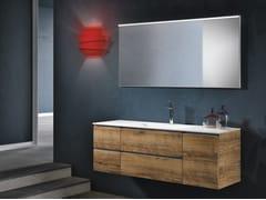 Mobile lavabo sospeso con cassetti CHANGE 201 - Change