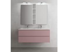 Mobile lavabo doppio sospeso con cassetti CHANGE 367 - Change