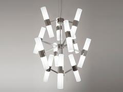 Lampada a sospensione a LED in vetro soffiatoCHAOS 01 - PATRIZIA GARGANTI