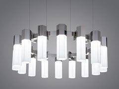 Lampada a sospensione a LED in vetro soffiatoCHAOS 05 - PATRIZIA GARGANTI