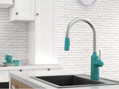 Miscelatore da cucina in ottone con doccetta estraibileCHAPTER 2 | Miscelatore da cucina - JUSTIME