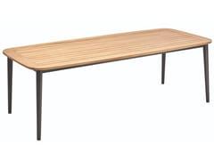 Tavolo da giardino rettangolare in alluminioCHARLIE   Tavolo in teak - SOLPURI