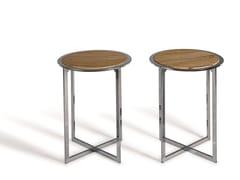 Tavolino di servizio rotondo in pietra naturale CHARME | Tavolino di servizio -