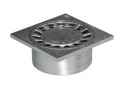Chiusino sifonato in ABS grigio con scarico verticaleCHCR15M - FIRST CORPORATION