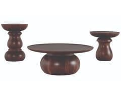 Tavolino rotondo in acaciaCHESS | Tavolino in acacia - ROCHE BOBOIS