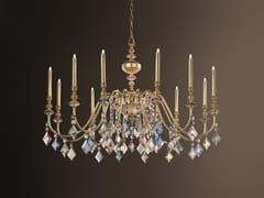 Lampadario a luce diretta in metallo con cristalli CHIC 12 - Chic