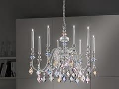 Lampadario a luce diretta in metallo con cristalli CHIC 8 - Chic