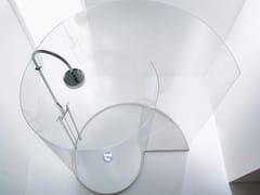 Agape, CHIOCCIOLA Box doccia centro stanza in Parapan® con piatto