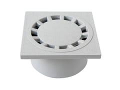 Chiusino sifonato in PVC grigio con scarico verticaleCHPVC10G - FIRST CORPORATION
