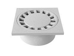 Chiusino sifonato in PVC grigio con scarico verticaleCHPVC15G - FIRST CORPORATION