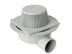 Chiusino sifonato in PVC grigio con parafoglie e scaricoCHPVCPFBO2011G/80G/90G - FIRST CORPORATION