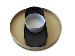 Set di vassoi in acciaio inox laccatoCIAMBOTTE - NATUZZI