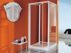 Box doccia angolare con piatto con porta a soffietto CIAO | Box doccia con porta a soffietto - Dinamica