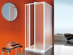 Box doccia angolare con porta a battente con piatto CIAO | Box doccia con porta a battente - Dinamica
