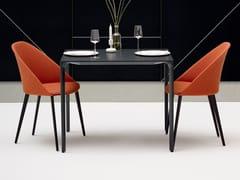Sedia con 4 gambe in legno CILA | Sedia in tessuto - Cila