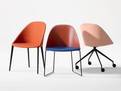 Sedia con 4 gambe in legnoCILA | Sedia in tessuto - ARPER