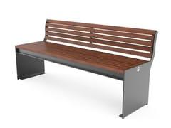 Panchina in acciaio con schienaleCIMA   Panchina con schienale - CITY DESIGN