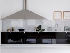 Cucina componibile lineare in laccato nero lucidoCINA | Cucina - TONCELLI