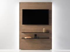 Mobile TV in rovere con ante a ribalta con sistema passacaviCINEMA - ZEGEN