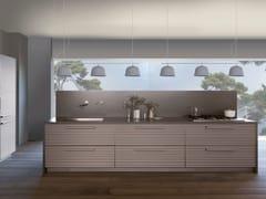 Cucina componibile con isola in alluminio titanioCINQUETERRE | Cucina con isola - TONCELLI