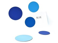 MagneteCIRCLES SHADES OF BLUE - GROOVY MAGNETS