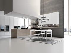 Cucina componibile con penisola CITY | Cucina senza maniglie -
