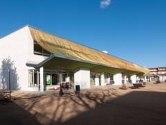 Kriskadecor, CLADDING EXTERIOR SCHOOL Frangisole per facciata in catene di alluminio