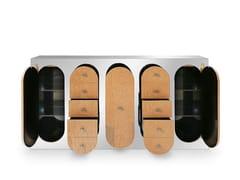 Consolle rettangolare in acciaio inox con cassettiCLAIRE | Consolle - DELIGHTFULL