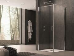 INDA®, CLAIRE DESIGN - 1 Box doccia angolare in vetro con porta a battente