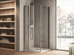 INDA®, CLAIRE DESIGN - 2 Box doccia rettangolare in vetro con porta a battente