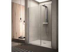 INDA®, CLAIRE DESIGN - 3 Box doccia rettangolare in vetro con porta a battente
