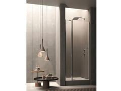 Box doccia a nicchia in vetro con porta a battente CLAIRE DESIGN - 6 - Claire design