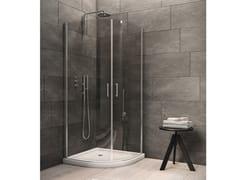 INDA®, CLAIRE DESIGN - 7 Box doccia semicircolare in vetro con porta a battente