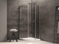 INDA®, CLAIRE DESIGN - 8 Box doccia semicircolare in vetro con porta a battente