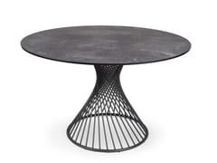 Tavolo da pranzo rotondo in acciaio inoxCLARIS | Tavolo rotondo - FISCHER MÖBEL