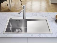 Lavello a una vasca filo top in acciaio inox con sgocciolatoio BLANCO CLARON 4 S-IF - Blanco Claron
