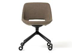 Sedia ufficio in tessuto a 4 razze con ruoteCLEA | Sedia ufficio con ruote - DIEMME