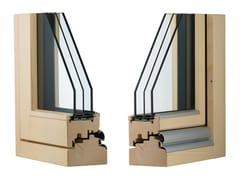 Finestra a taglio termico complanare in legno lamellareCLIMA 92 COMPLANARE - ALPILEGNO