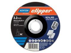 Disco da taglio metallo - acciaio inoxCLIPPER  A CENTRO DEPRESSO - NORTON SAINT-GOBAIN