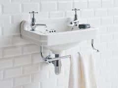 Lavamani in Vetrochina con porta asciugamaniEDWARDIAN | Lavamani con porta asciugamani - BATHROOM BRANDS GROUP
