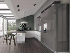 Cucina componibile laccata con penisola CLOVER 01 - Clover
