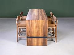 Tavolo alto rettangolare in legno massello per contractCLOVER | Tavolo per contract - HOOKL UND STOOL