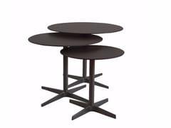 Tavolino rotondo in cuoio CLUB | Tavolino in cuoio - Complementi