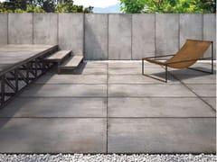 Pavimento per esterni in gres porcellanato effetto pietra CM2 TEKNOSTONE - SMOKE - CM2 TEKNOSTONE