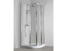 Box doccia angolare semicircolare con porta scorrevoleCO-GI38 - TDA