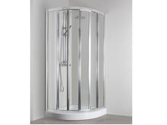 Box doccia angolare semicircolare con porta scorrevoleCO-T55B - TDA